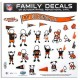 Family Car Decal Large